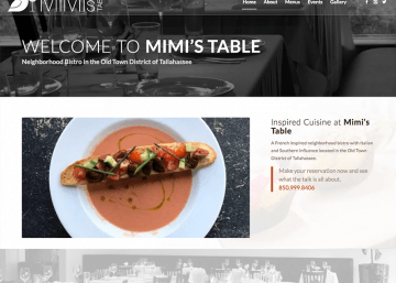 Mimi's Table - WPTallahassee, Tallahassee Web Design